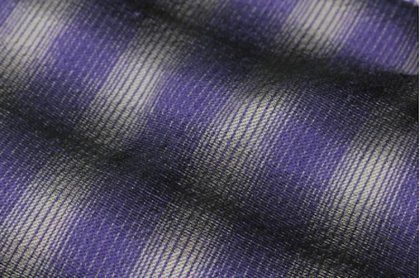 Ombre Stripes with a rich purple with support grey and black. Image sourced from WGSN.