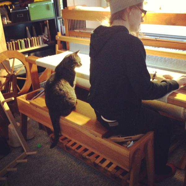my weaving buddy and i.