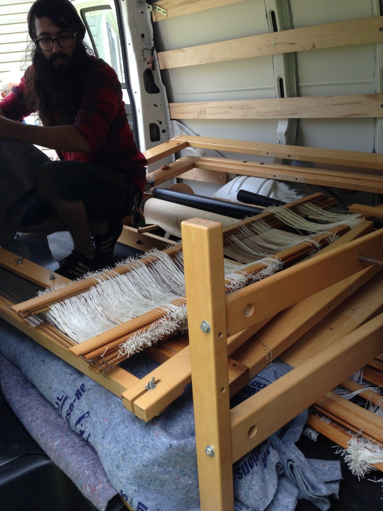 candid of dismantled loom