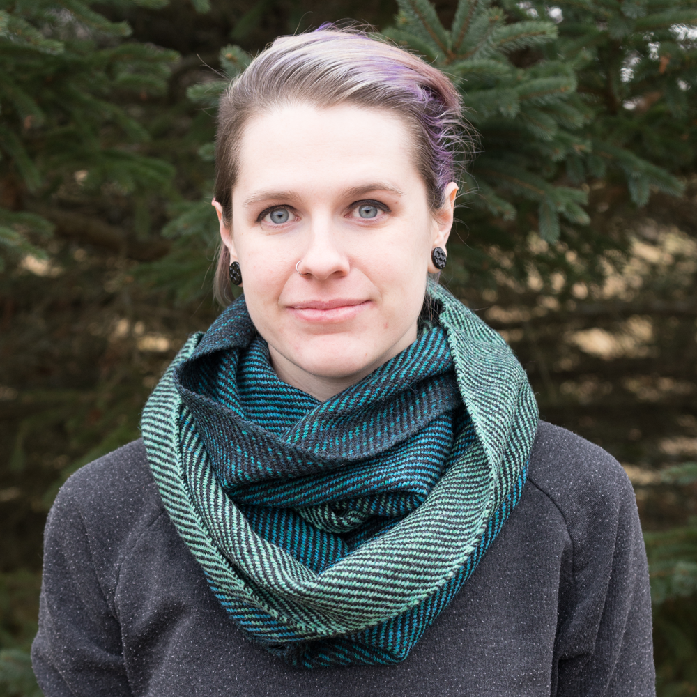 Aqua Ombre Infinity Scarf - Front View