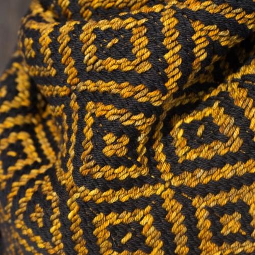 Black/Glitter Kerchief Detail