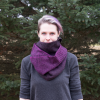 Purple Ombre Infinity Scarf - Front View